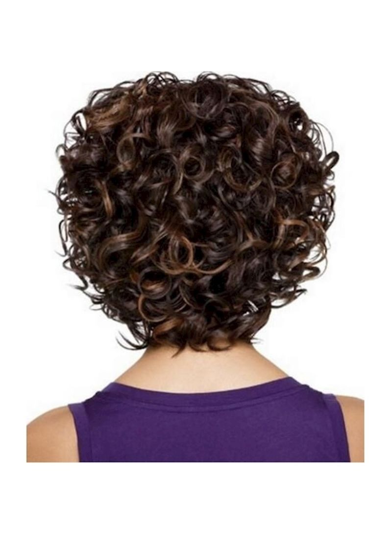 Shop Fluffy Afro Short Curly Hair Extension Brown 27centimeter Online In Riyadh Jeddah And All Ksa