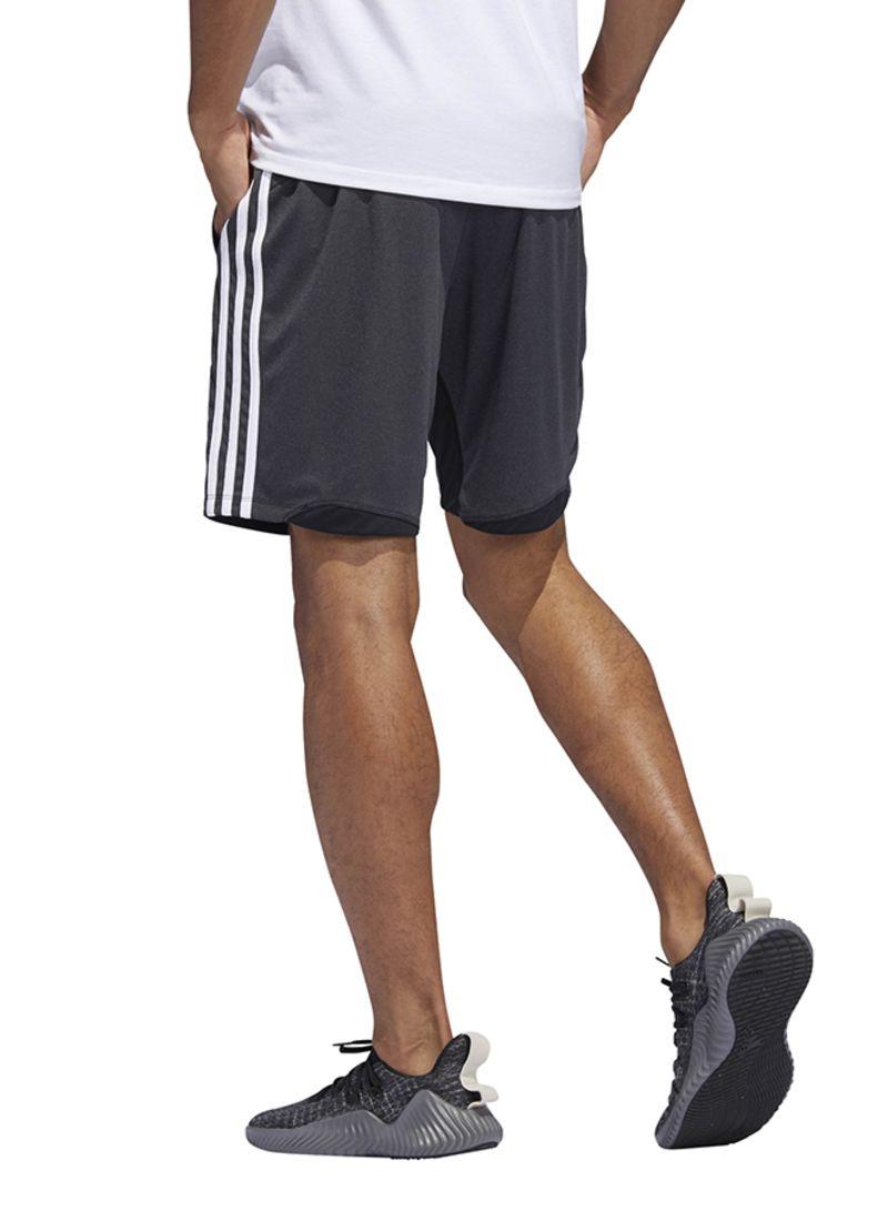 Shop adidas 4KRFT 3 Stripes Heather Sport Shorts BlackHeather online in Riyadh, Jeddah and all KSA