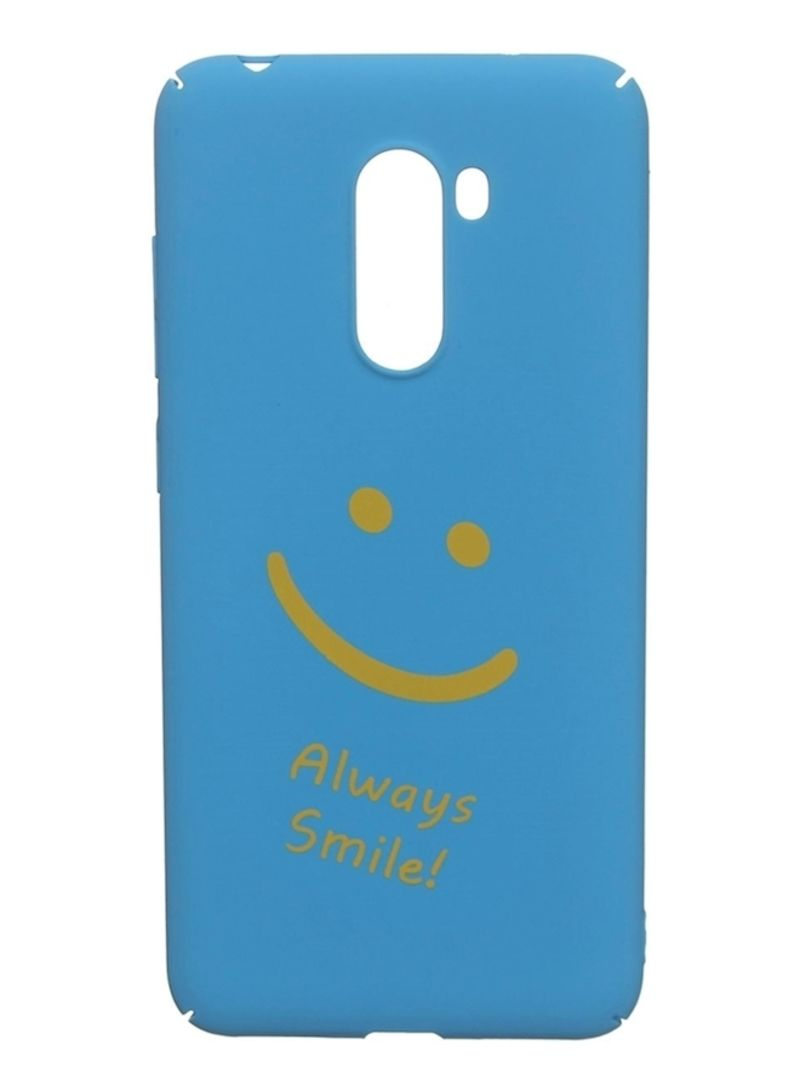 Shop Generic Back Cover For Xiaomi Pocophone F1 Blue online