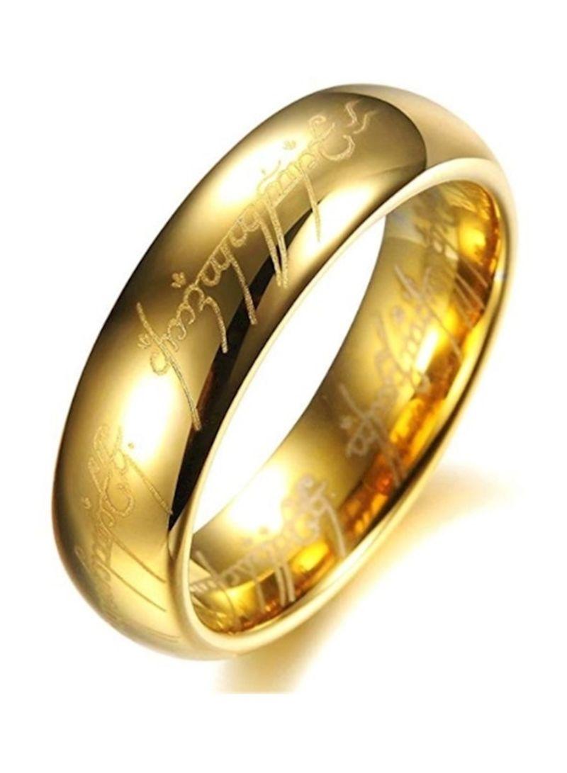 Lord Of The Rings Wedding Band.Shop Generics Titanium Plated Lord Of Rings Wedding Band Online In Dubai Abu Dhabi And All Uae