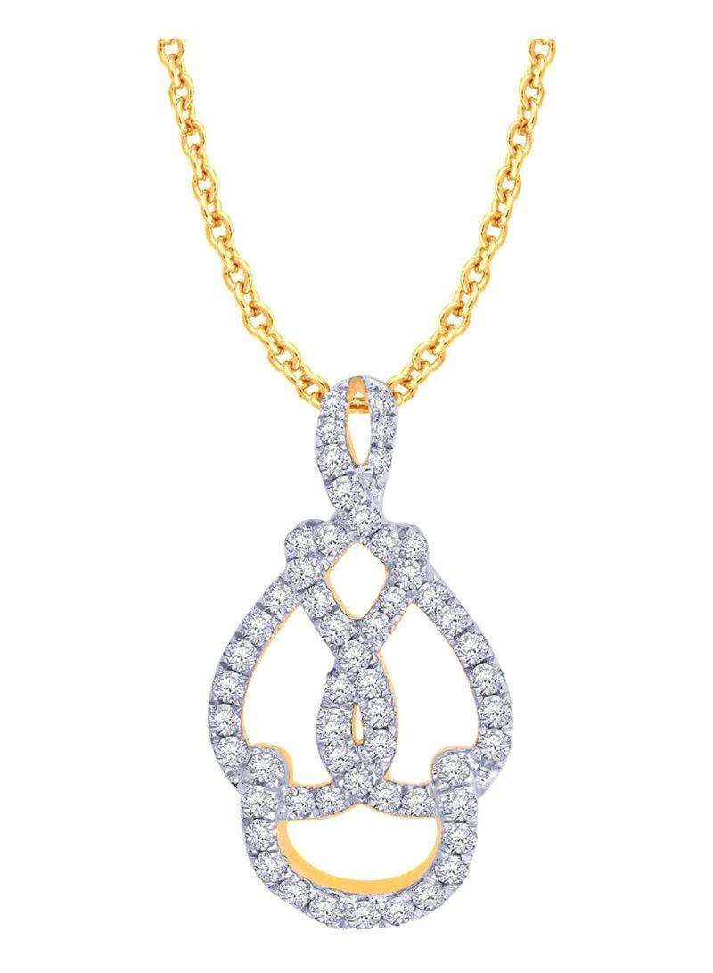 ef4b81579 Shop Malabar Gold and Diamonds 18 Kt (750) Yellow Gold Mine Diamond ...