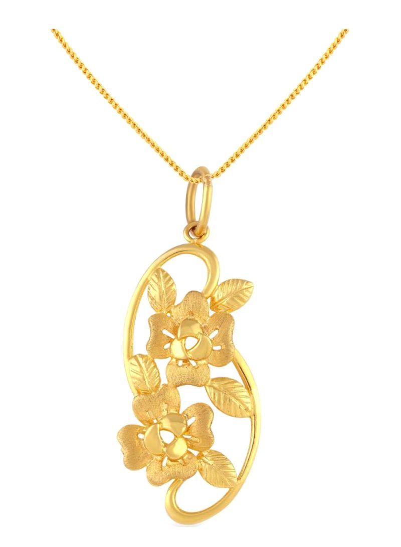 Shop Malabar Gold and Diamonds 22 Kt (916) Yellow Gold Malabar Pendant  Pd511447 For Women online in Dubai, Abu Dhabi and all UAE