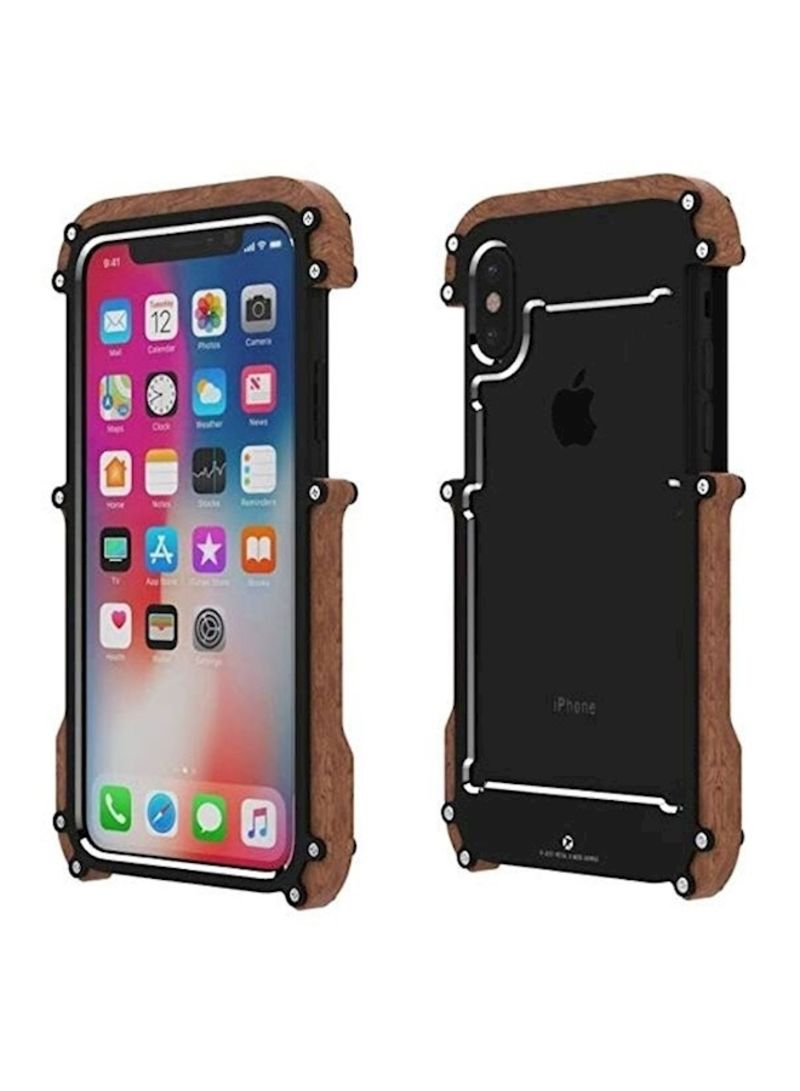 hot sale online 966b1 1f6a2 Shop R-JUST Protective Case Cover For Apple iPhone X/Xs Brown online in  Dubai, Abu Dhabi and all UAE