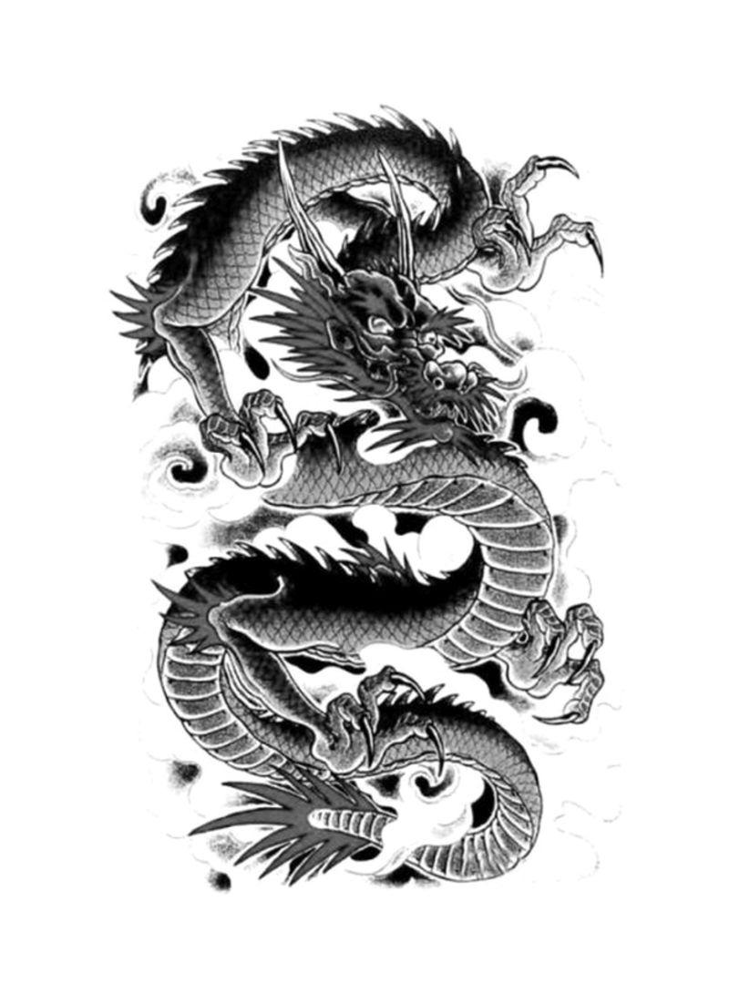 تسوق ماركة غير محددة وwaterproof Dragon Tattoo Sticker Black