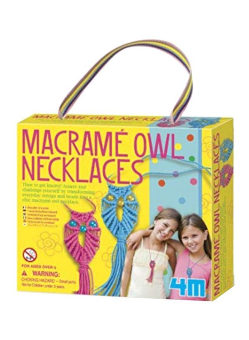 4M Girl Accessories -მოქსოვე ბუ ყელსაბამი