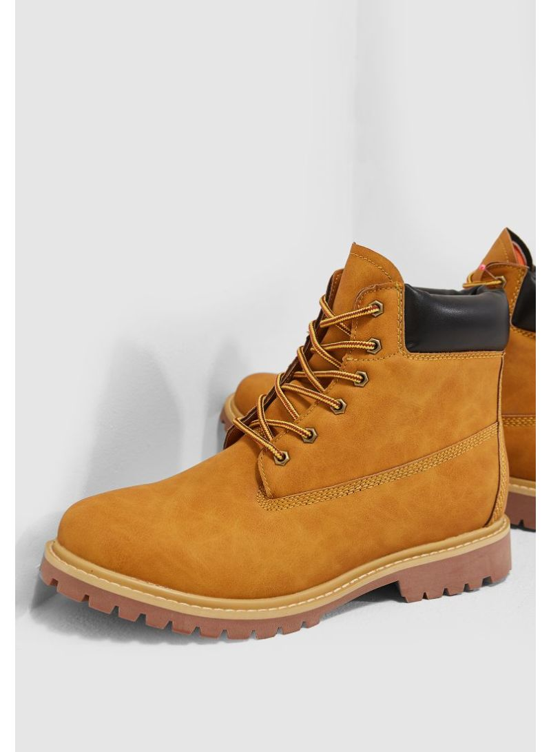 Namshi Casual Boots Brown online in Egypt