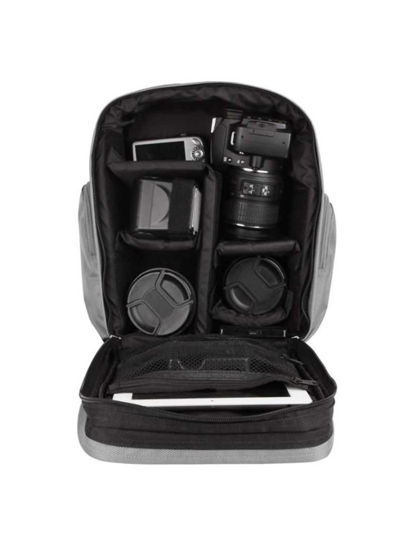 Sparta Backpack Protective Carrying Bag for Canon EOS 1D X Rebel T5 1Ds Mark III KISS X70 DSLR Camera and Screen Protector and Mini Tripod