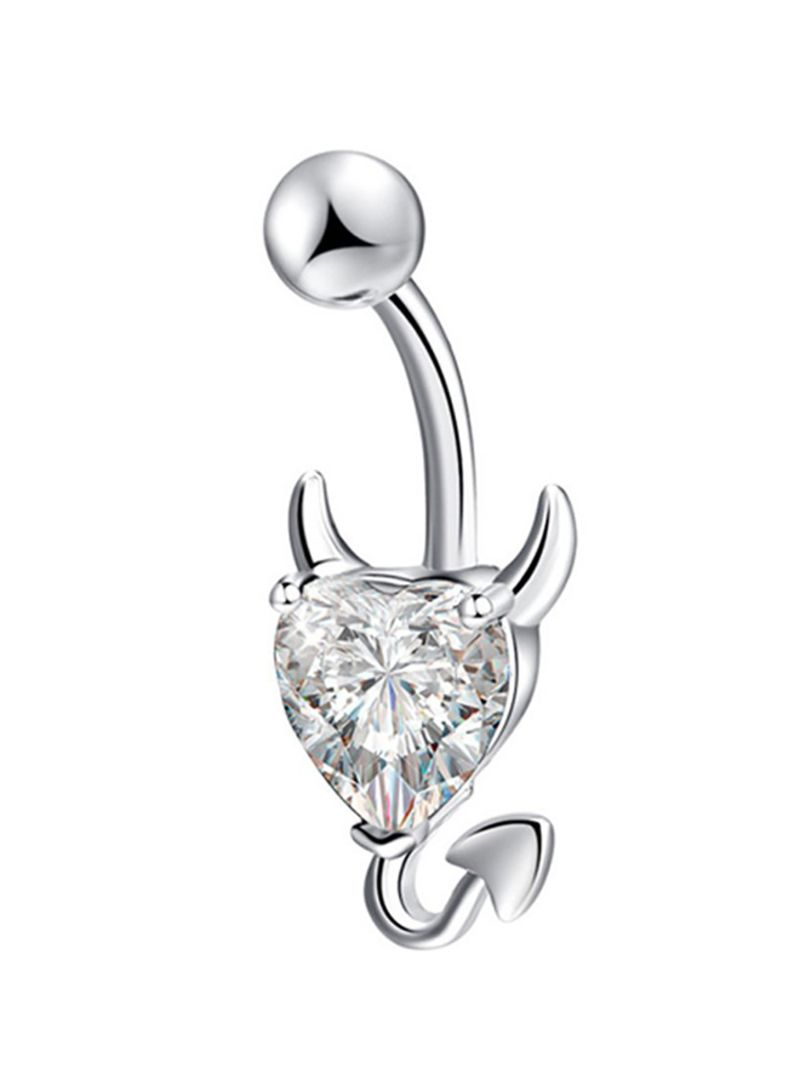 Shop Devil Heart Stainless Steel Belly Ring Online In Dubai Abu Dhabi And All Uae