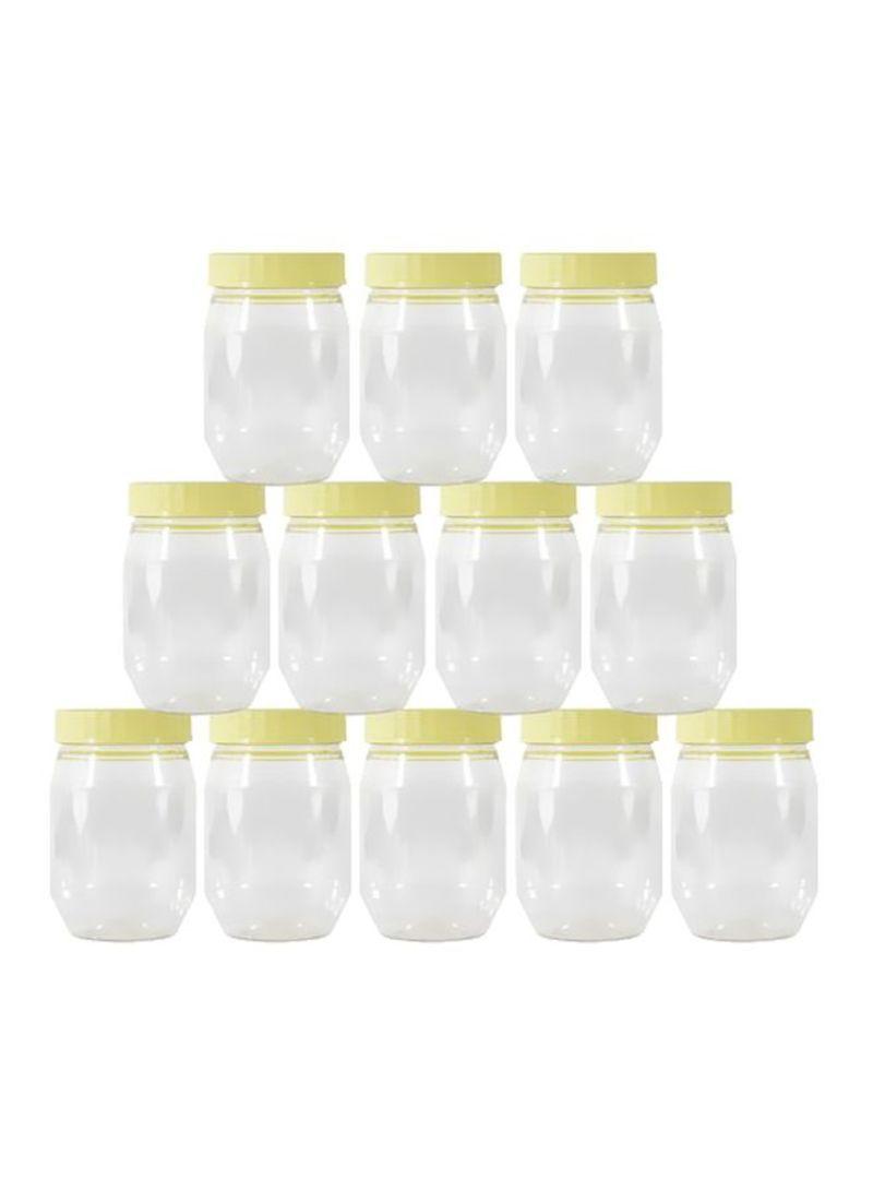 تسوق Sunpet وطقم برطمانات من البلاستيك مكون من 10 قطع أصفر شفاف أونلاين في الإمارات