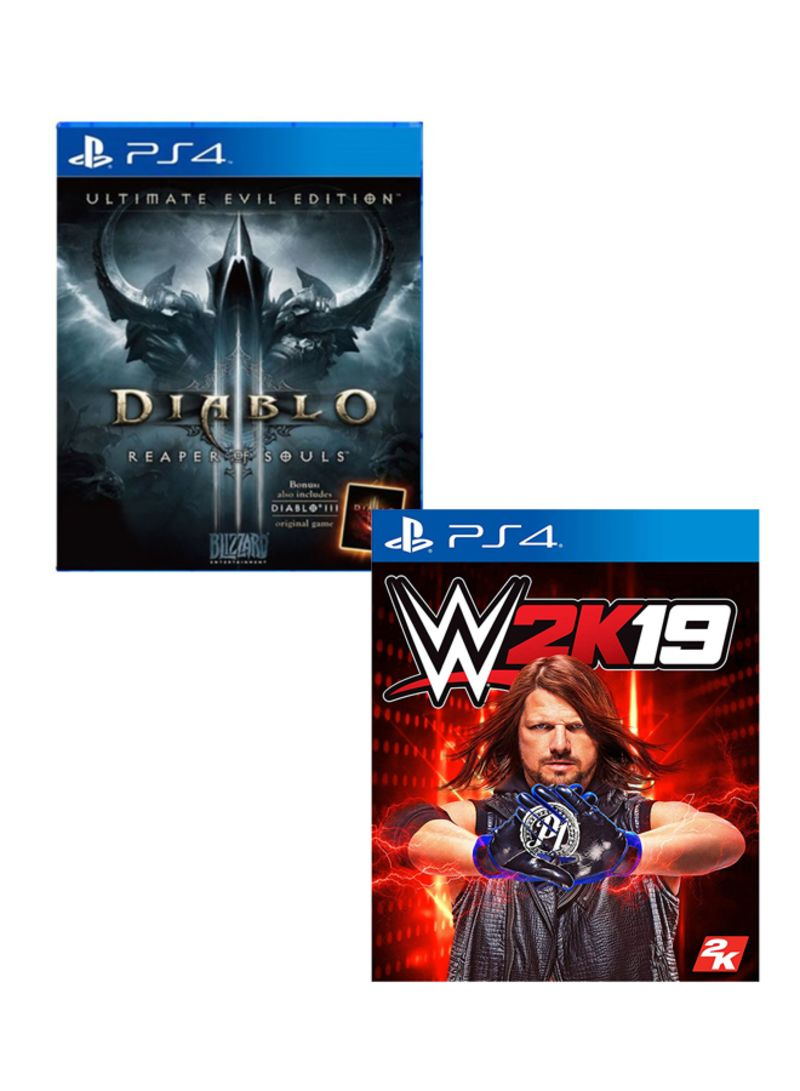 Shop Blizzard Entertainment Diablo 3 Reaper of Souls Ultimate Evil Edition  + WWE 2K19 Bundle - PlayStation 4 online in Dubai, Abu Dhabi and all UAE