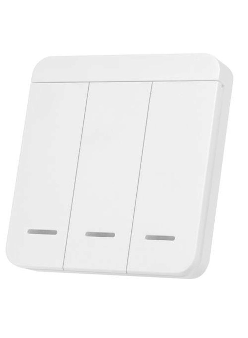 Wireless 3 Gang Smart Wall Light Switch White Price In Uae Noon Uae Kanbkam