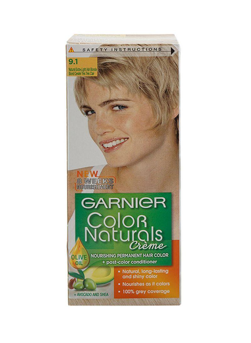 Shop GARNIER Color Naturals Permament Hair Color Cream 9.1 Extra Light Ash  Blonde online in Dubai, Abu Dhabi and all UAE