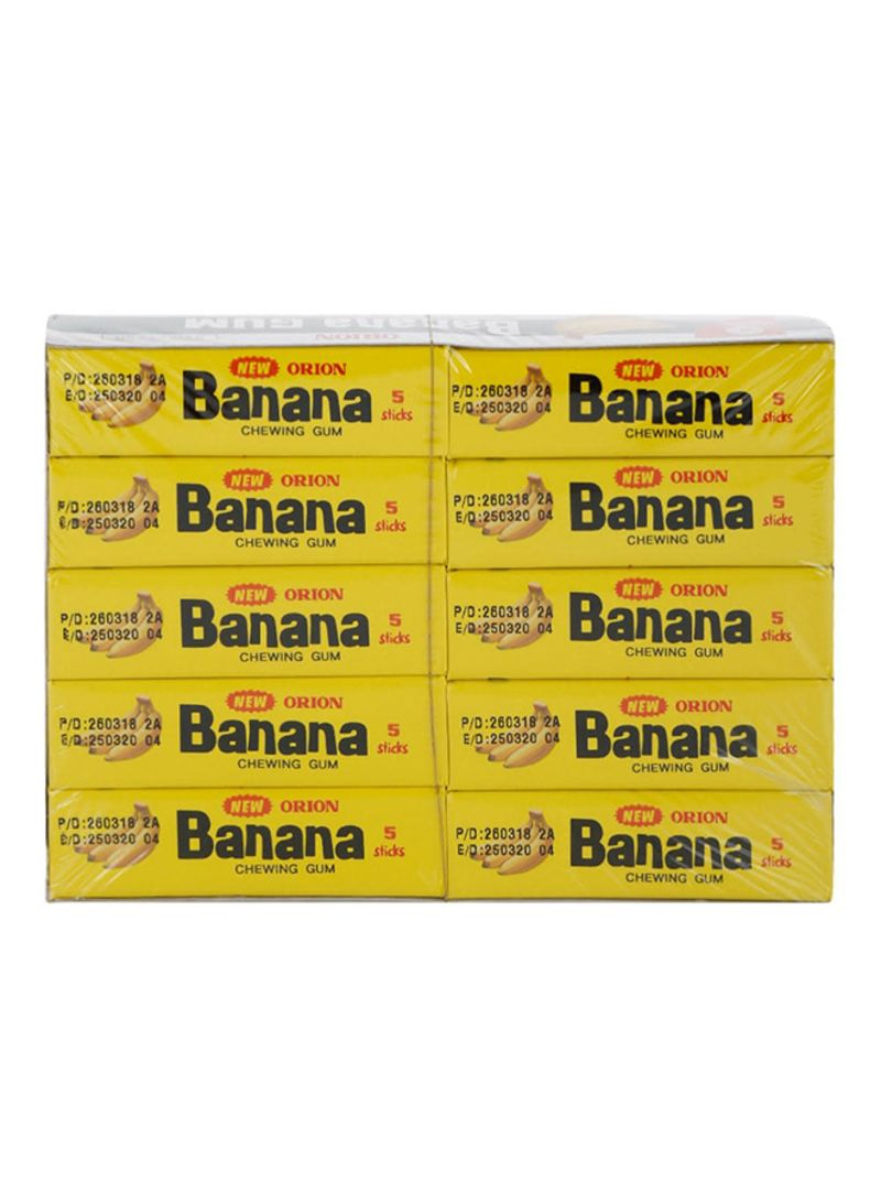 Banana Flavored Chewing Gum 250g