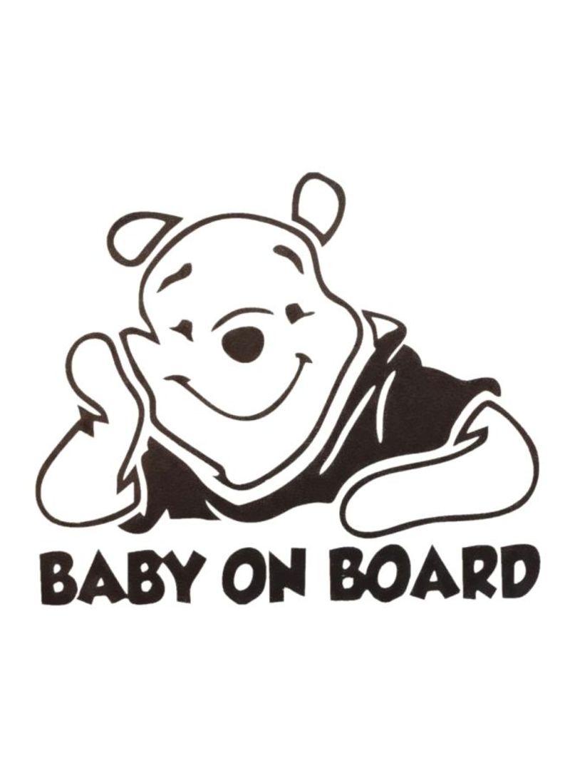 Winnie The Pooh Reflective Car Sticker