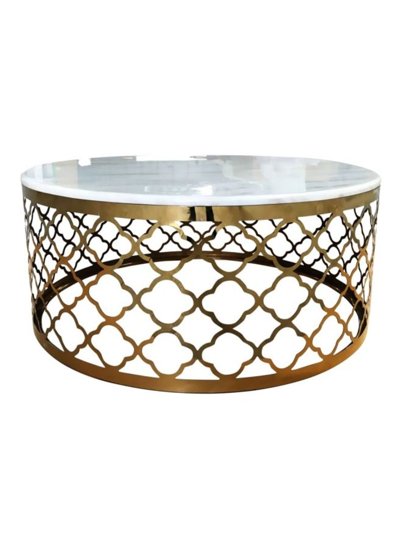 Picture of: Shop Danube Home Ninna Coffee Table White Marble Gold Online In Dubai Abu Dhabi And All Uae