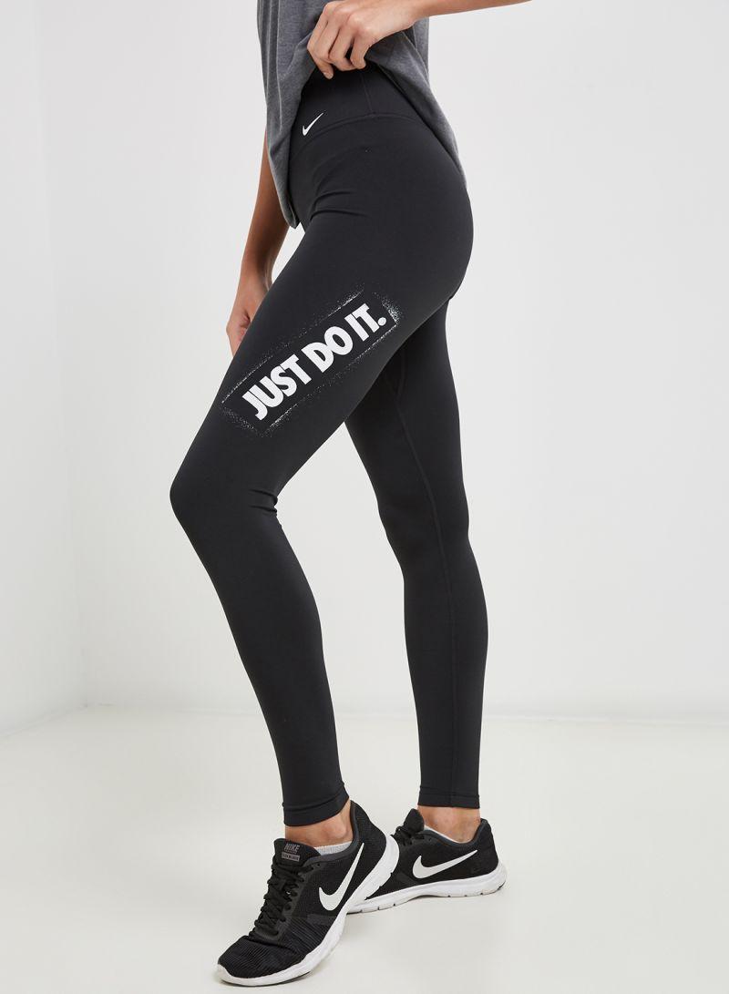 quite nice sells buy sale Shop Nike One HBR Leggings Black/White online in Riyadh, Jeddah and all KSA