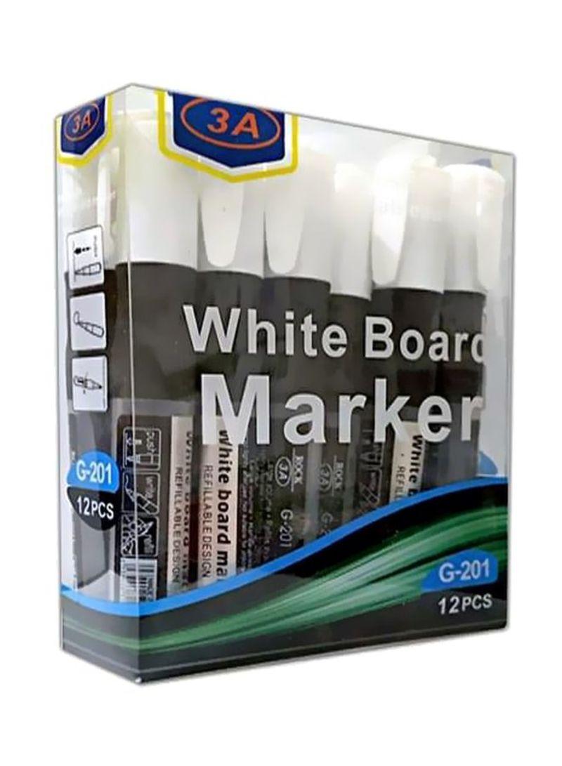 Shop 3a 12 Piece White Board Marker Set Black White Online