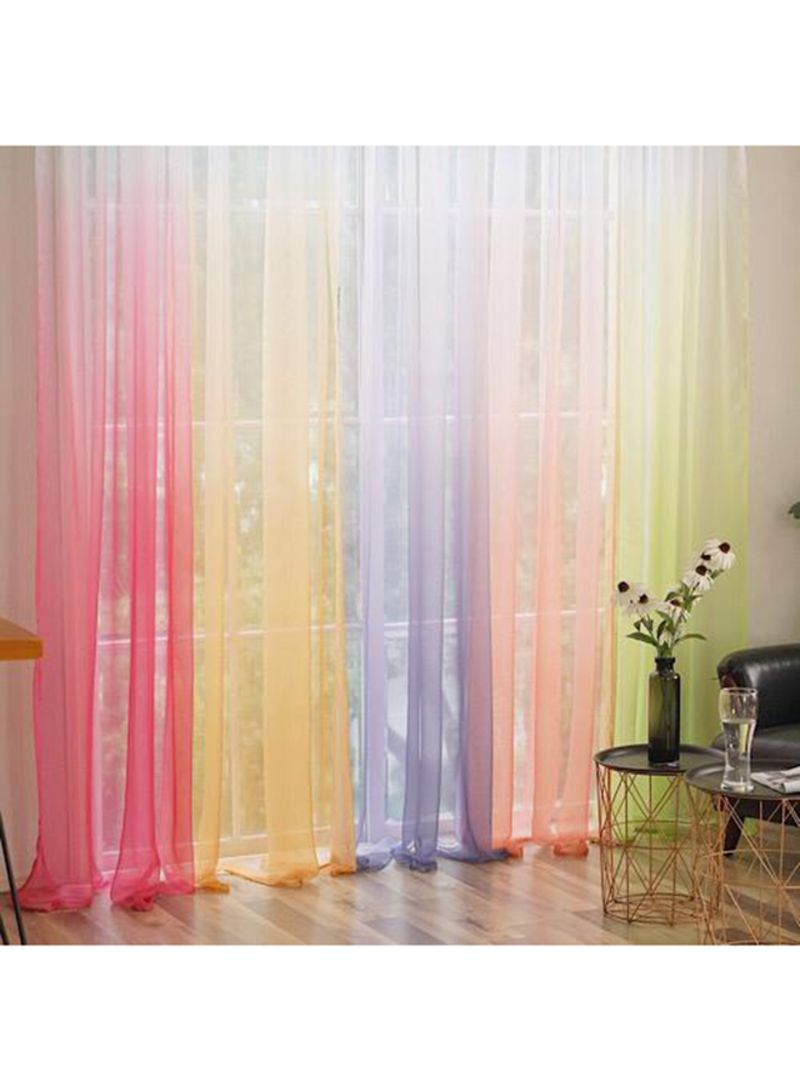 Shop Deals for Less 29 -Piece Ombre Design Sheer Window Curtain