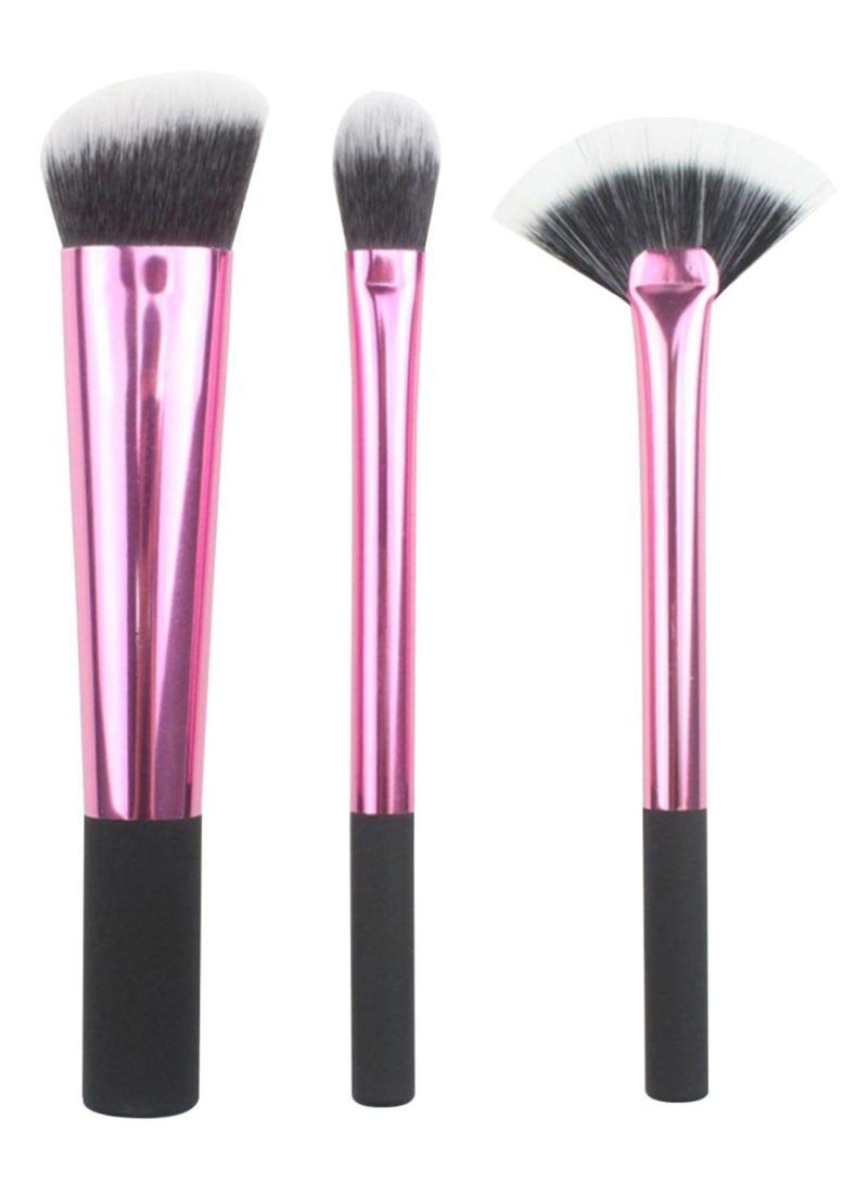 Piece Portable Makeup Brush Set Pink