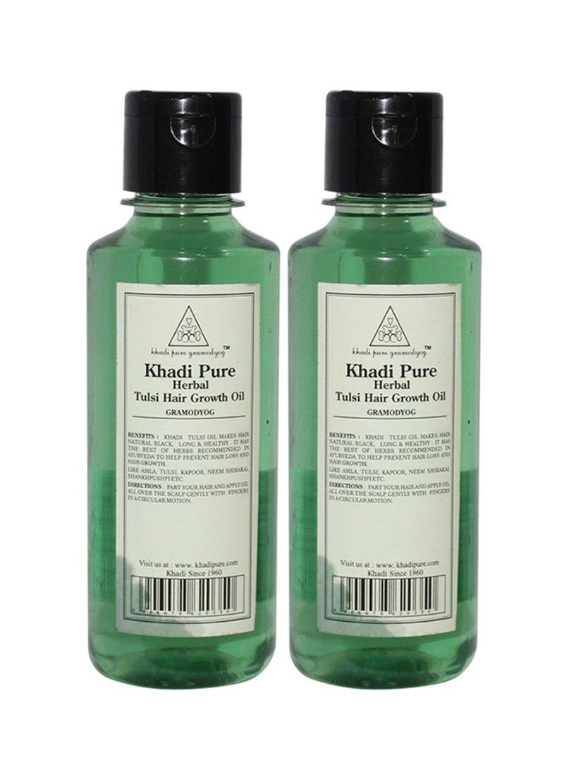 Shop Khadi 45 Piece Pure Herbal Tulsi Hair Growth Oil Set 4510ml