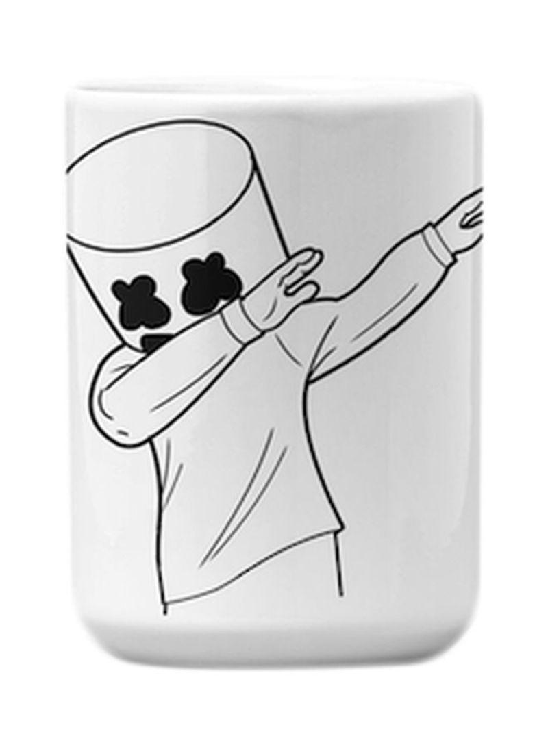 Marshmello Fortnite Dance Printed Mug Black White 9 2x7 7 Centimeter Price In Uae Noon Uae Kanbkam