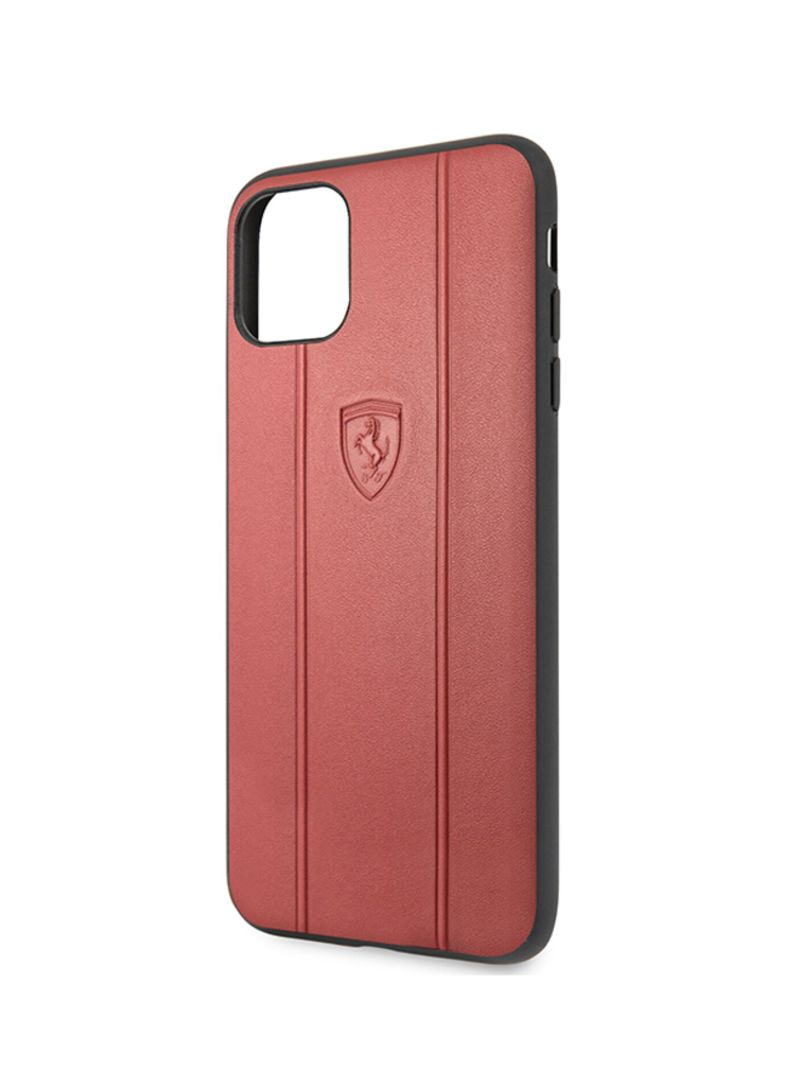 Off Track Leather Hard Case With Embossed Lines For Apple Iphone 11 Pro Max Red Price In Uae Noon Uae Kanbkam