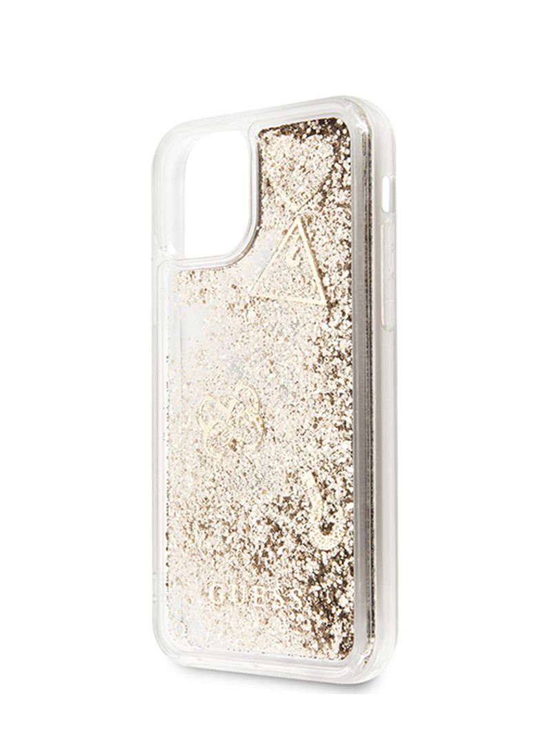 Buy online Glitter Silicone Cover Guess iPhone 11 Pro Gold