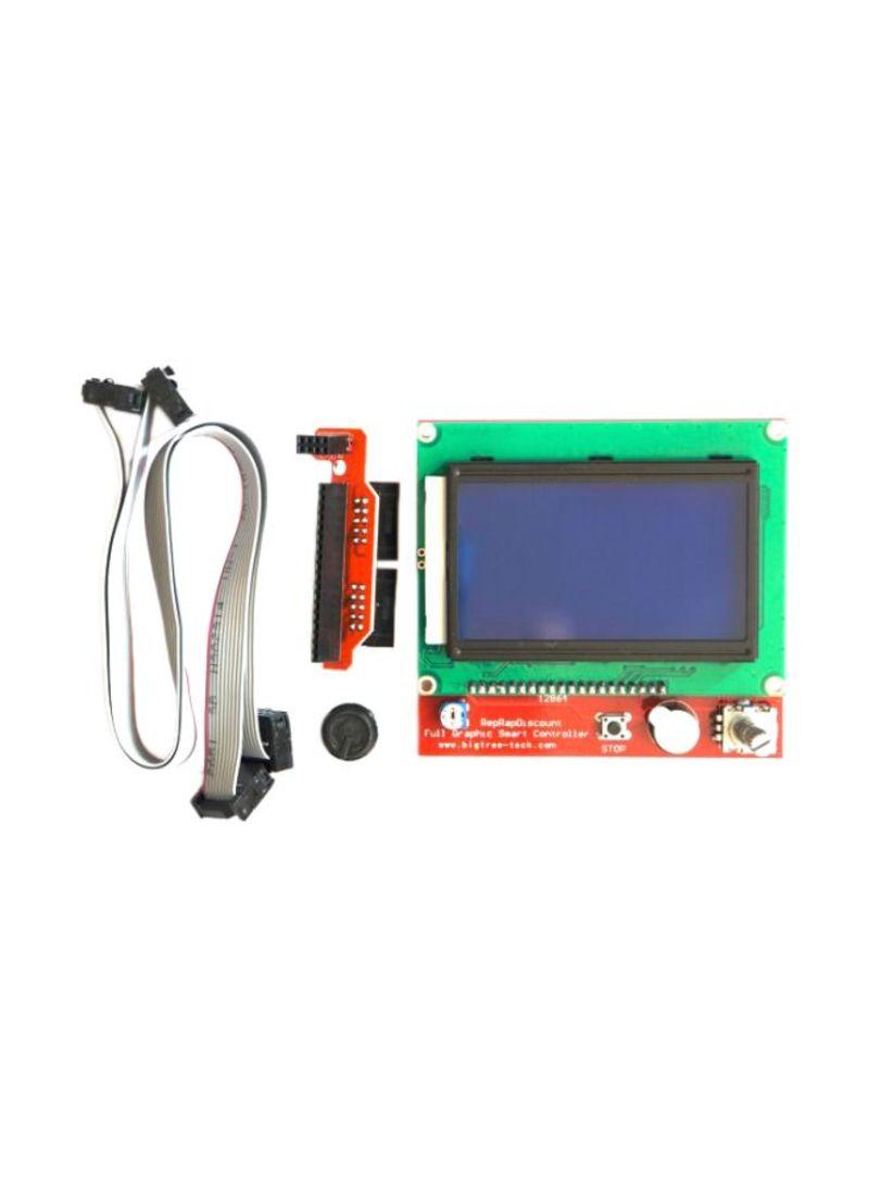 جهاز تحكم بشاشة LCD وواجهة بطاقة SD للطابعة ثلاثية الأبعاد أزرق/ أخضر /أحمر 3.2 بوصة