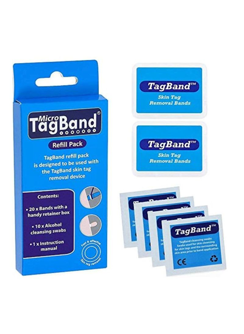 Shop Tagband 30 Piece Micro Band And Swab Set Blue White Online In