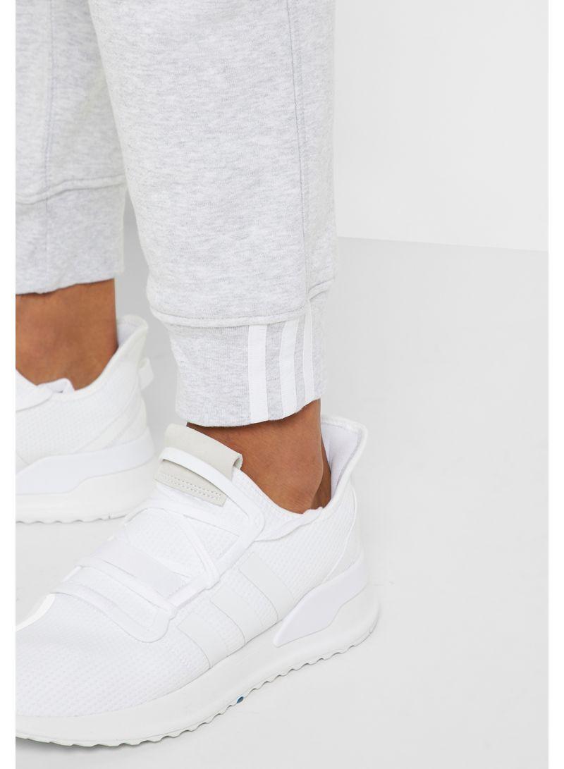 Shop adidas Originals Striped Sweatpants Grey online in