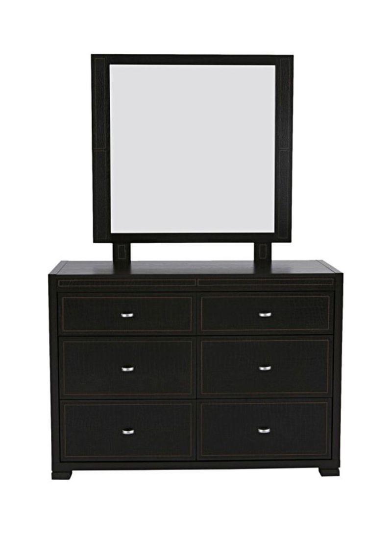 6 Drawer Croco Dresser Dark Brown Price