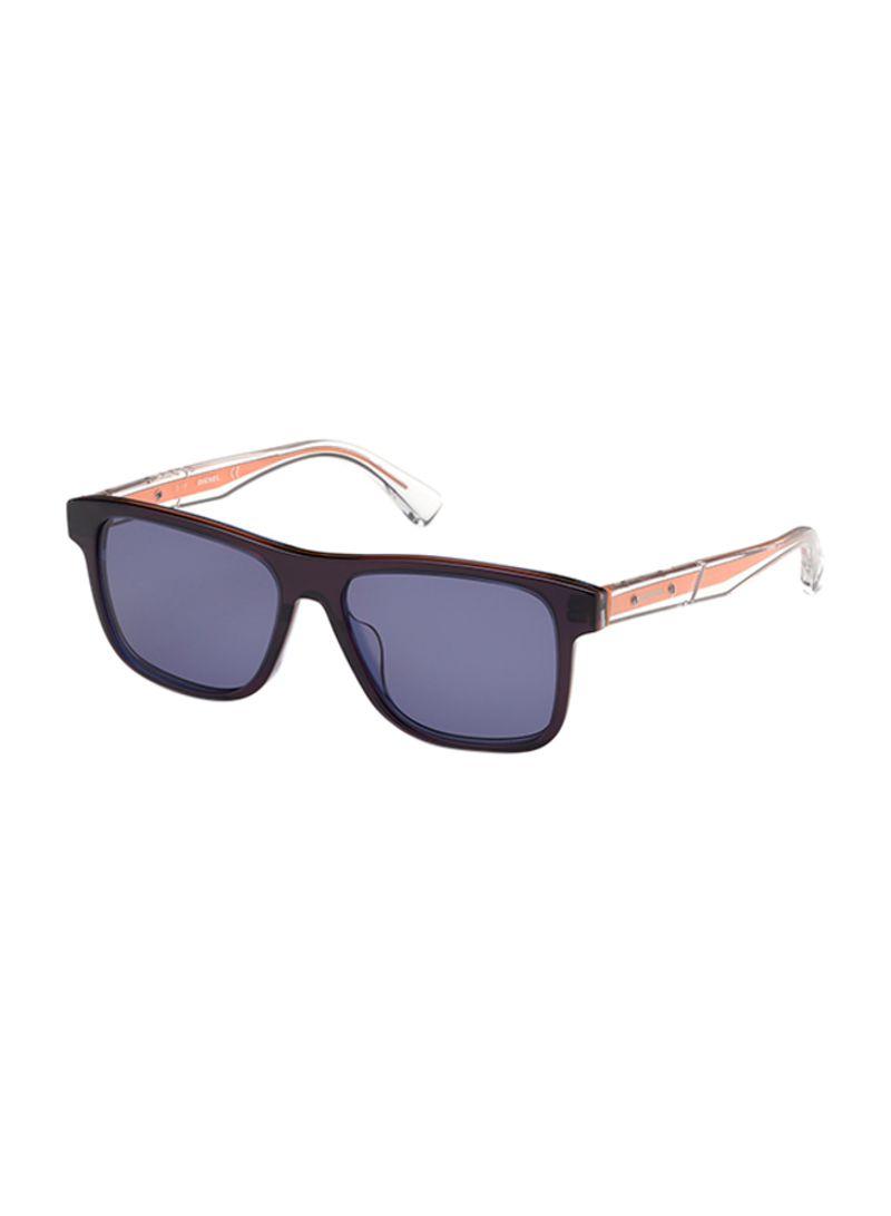 تسوق ديزل ونظارة شمسية بإطار مستطيل وعدسات واقية من الأشعة فوق البنفسجية طراز DL027992V53 أسود للرجال أونلاين في السعودية