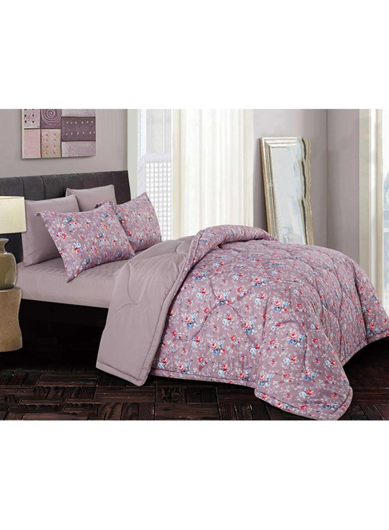 4 Piece Printed Comforter Daybed Set Polyester Purple 180x230 Centimeter Price In Saudi Arabia Noon Saudi Arabia Kanbkam