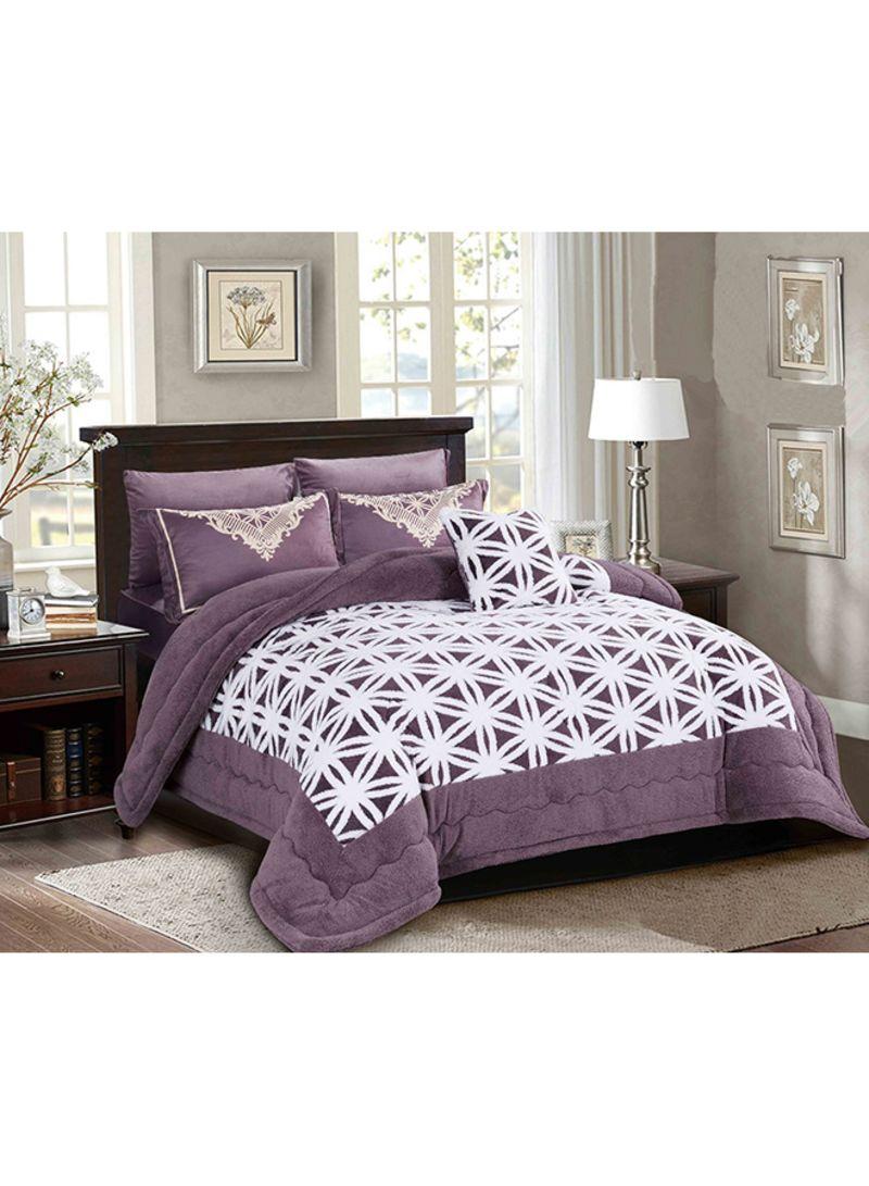 4 Piece Velvet Comforter Daybed Set Polyester Purple 180x240centimeter Price In Saudi Arabia Noon Saudi Arabia Kanbkam