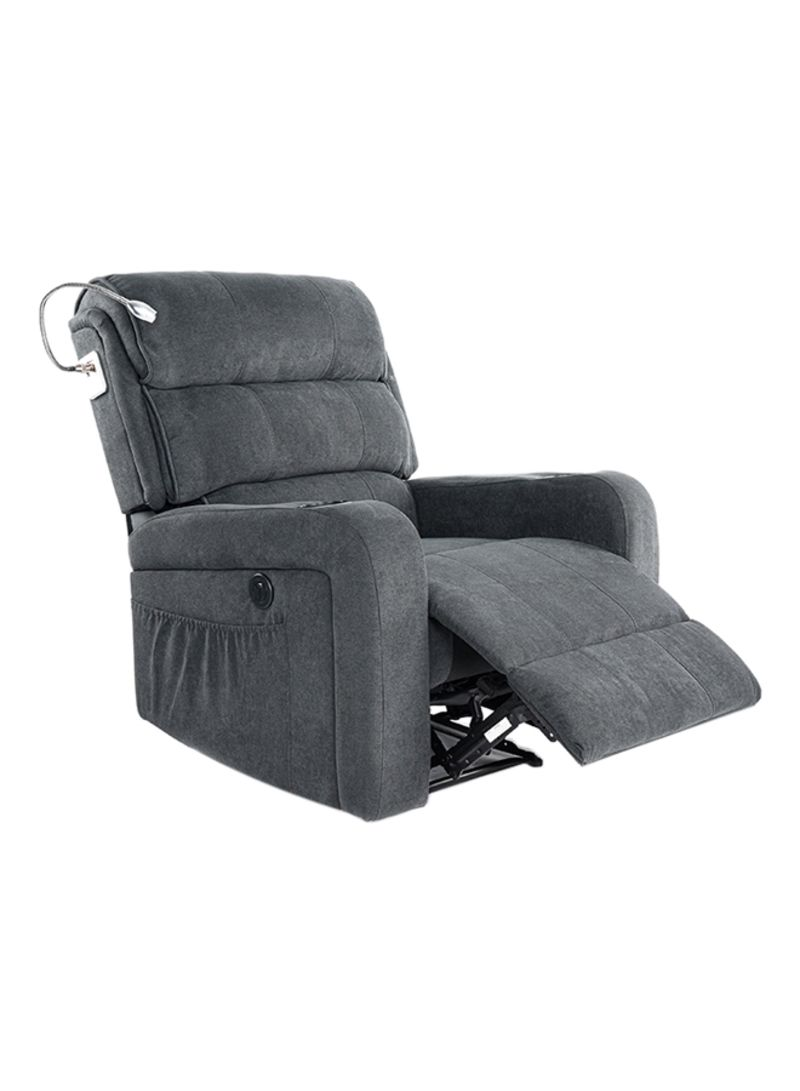 Picture of: Shop Homez Electric Recliner Armchair With Usb Port Dark Gray Online In Dubai Abu Dhabi And All Uae