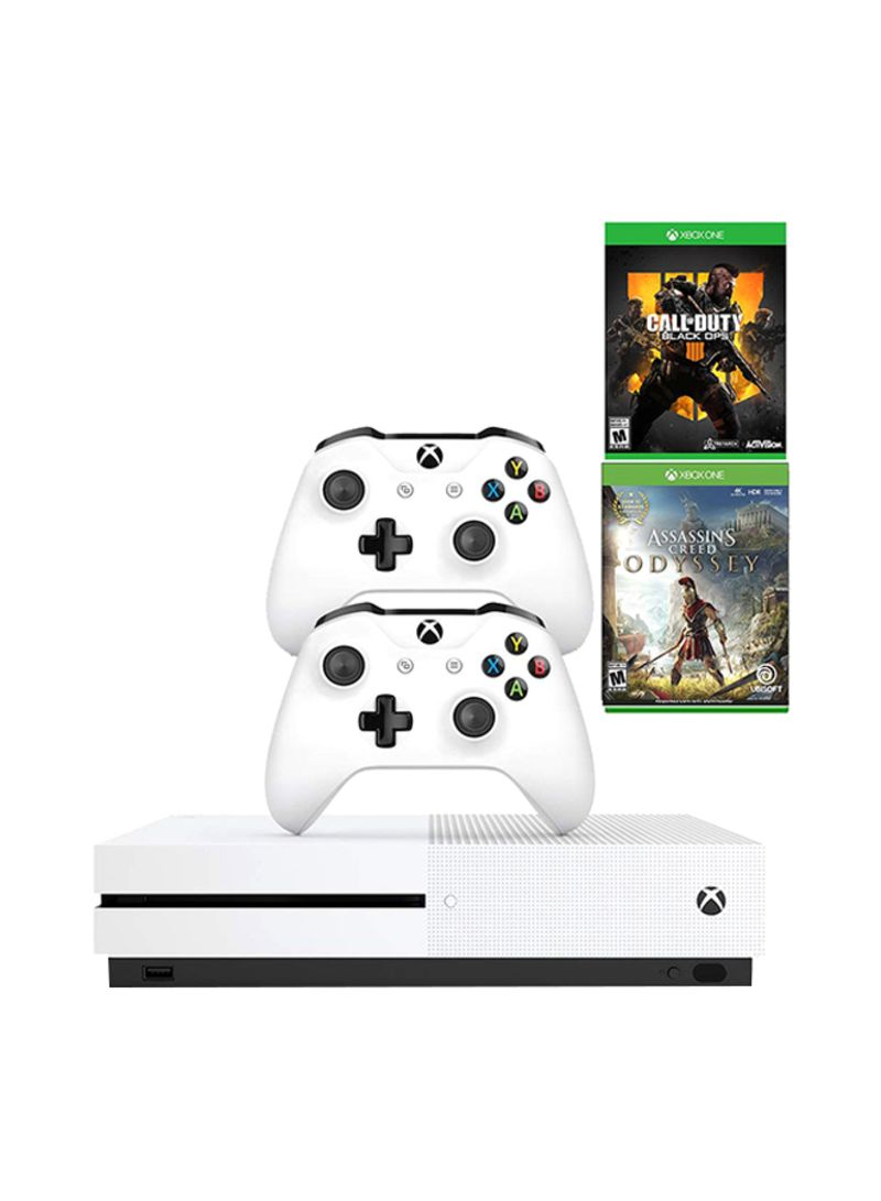Xbox One S 1tb Gaming Console With 2 Controller And 2 Games Call