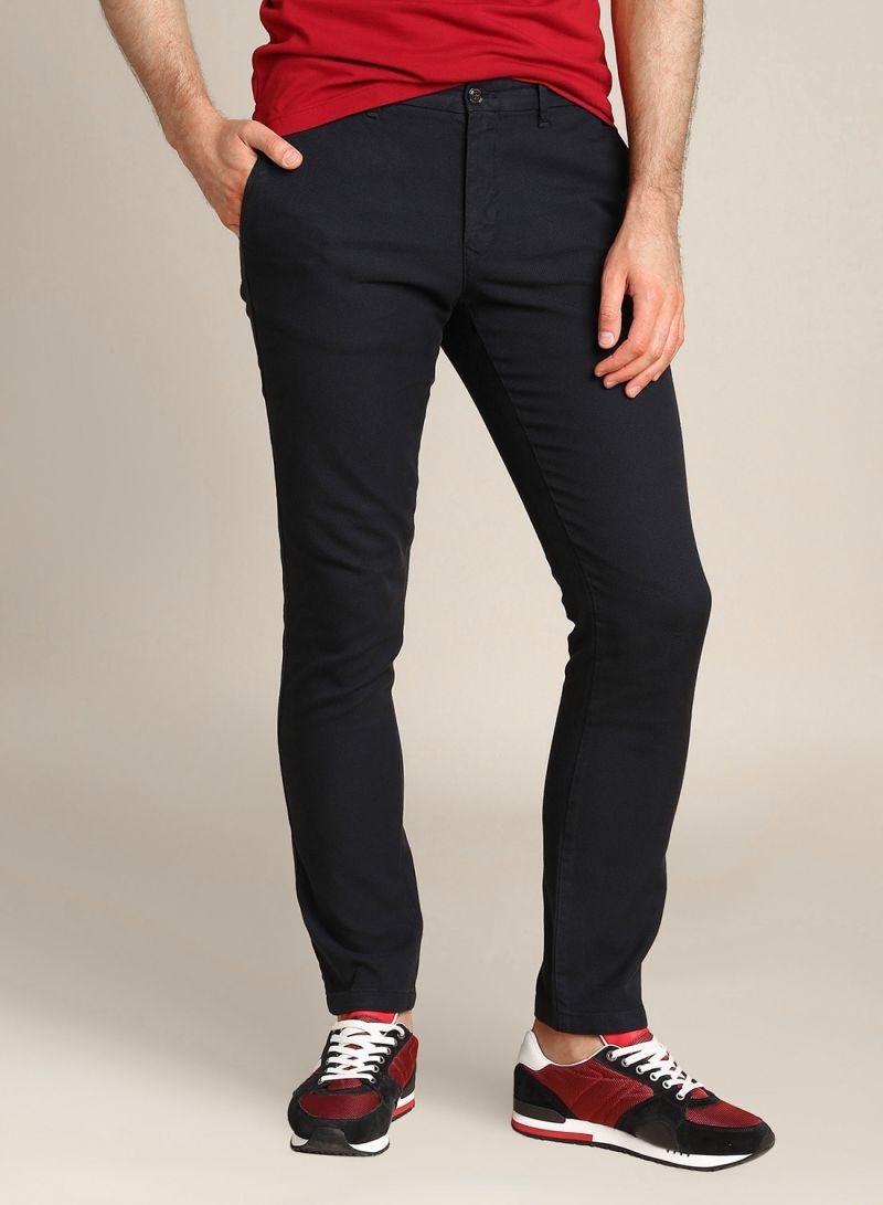buy look for detailed pictures Shop TOMMY HILFIGER Bleecker Slim Fit Pants 403 Black online ...