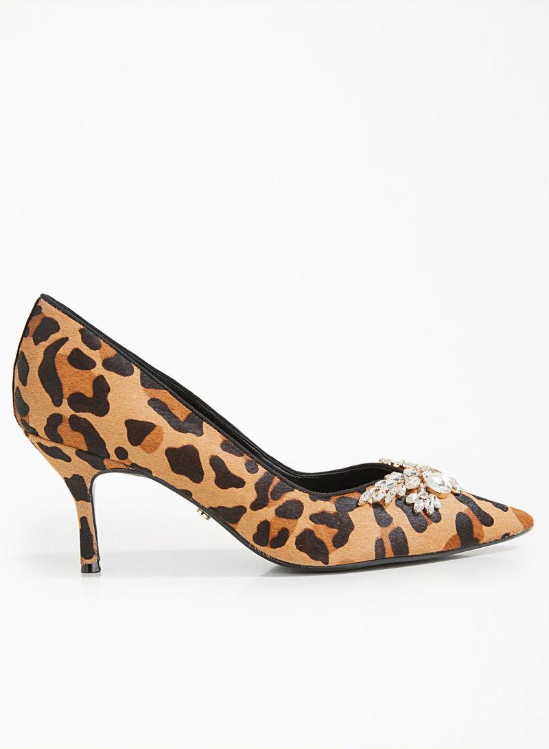 Shop dune Leopard Print Leather Pumps