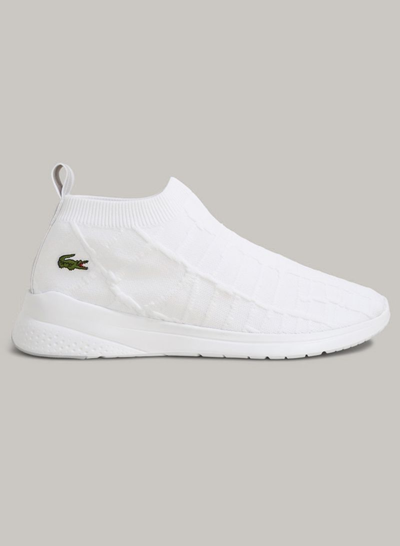 lacoste white sock trainers