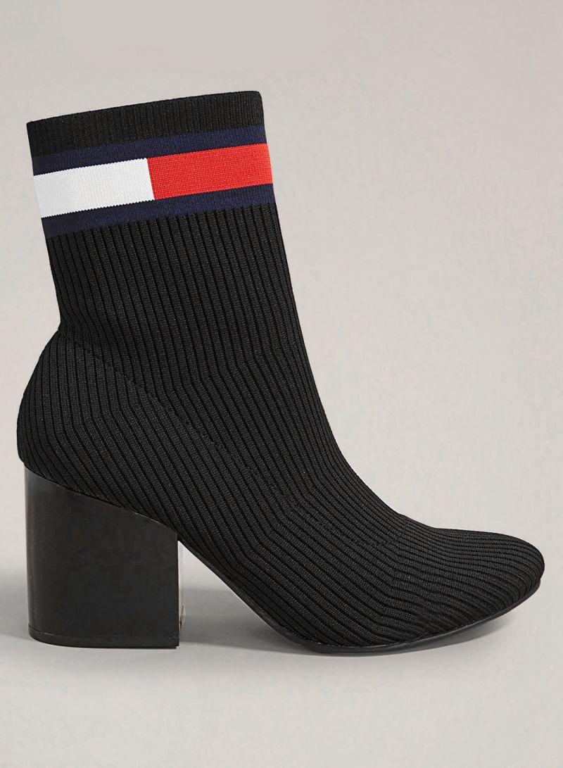Tommy Jeans Designer Heeled Sock Boots