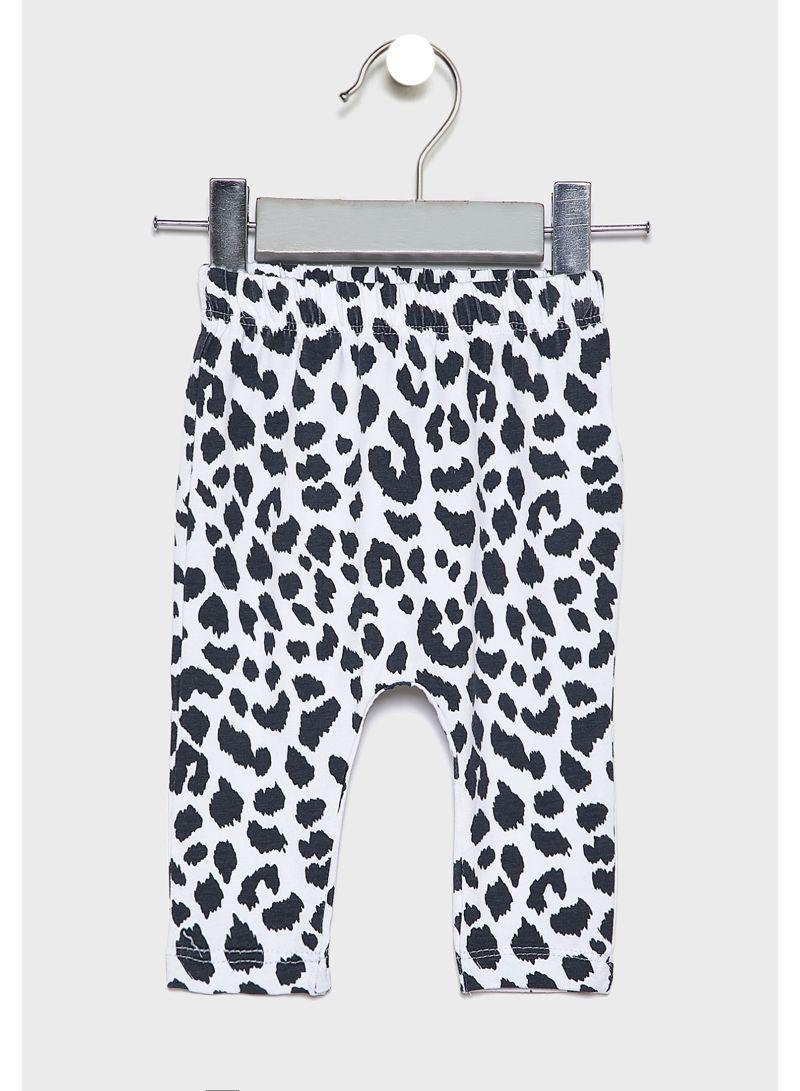 Shop Cotton On Kids Leopard Leggings Black White Online In Dubai Abu Dhabi And All Uae