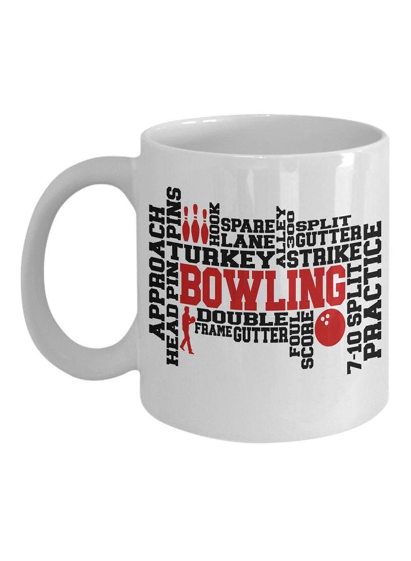 Shop Italco Bowling Word Art Coffee Mug White 11ounce Online In Dubai Abu Dhabi And All Uae
