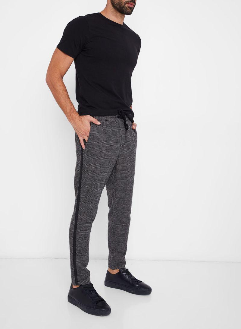 تسوق أونلي آند سانز وHoundstooth Patterned Pants رمادي أونلاين في السعودية