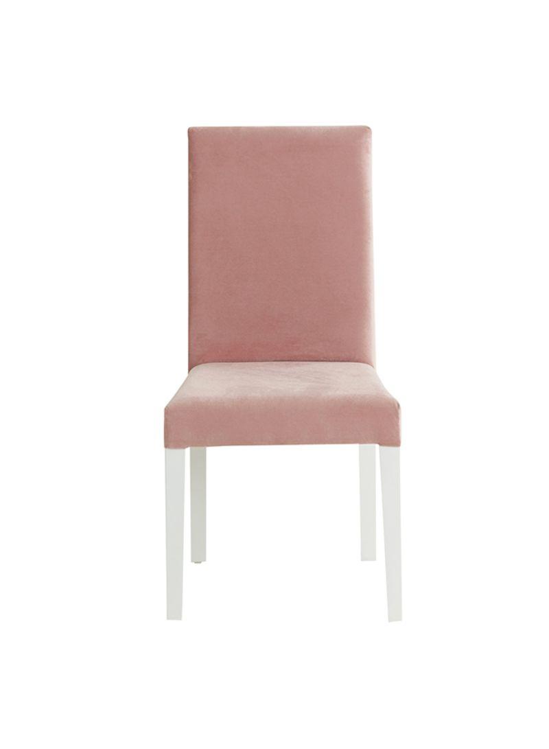 Shop HOMEBOX Carla Armless Study Chair Peach/White online in Dubai
