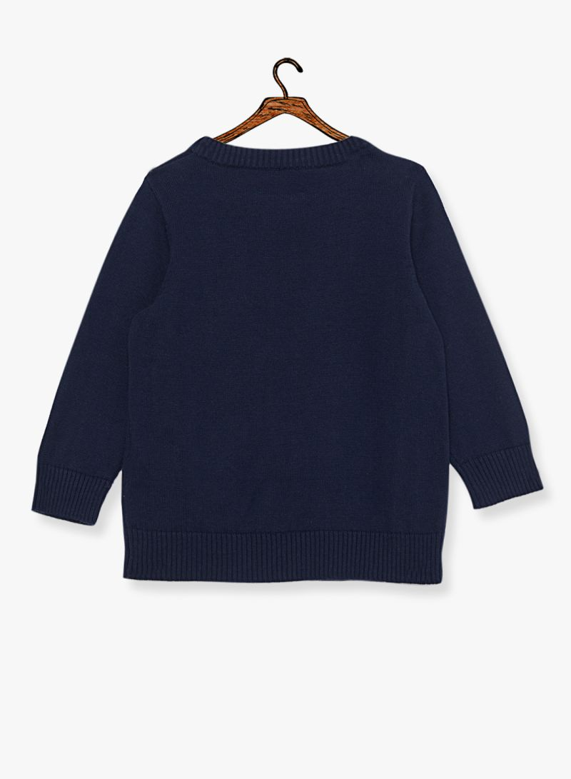 Buy Now NAME IT Boys Monster Applique Sweater Navy with