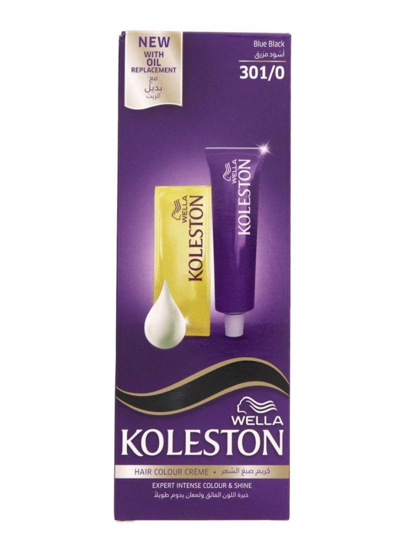 تسوق كولستون وصبغة شعر ويلا خبرة اللون الفائق 301 0 Blue Black 50مل أونلاين في الإمارات