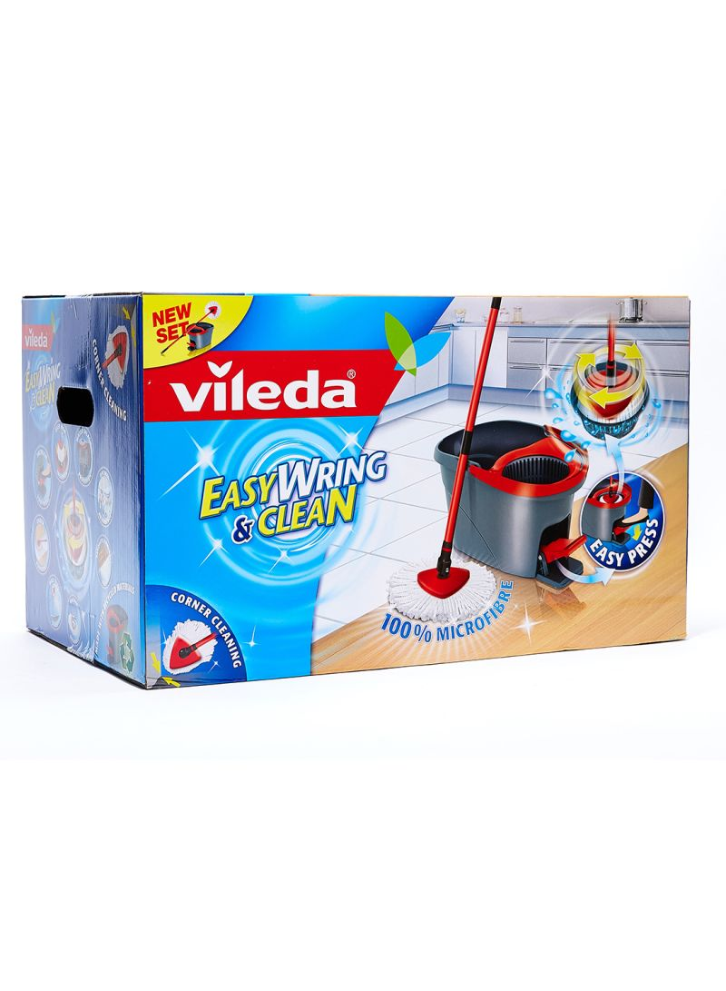 Shop Vileda Easy Wring And Clean Spin Mop Blackred Online In Dubai Abu Dhabi And All Uae