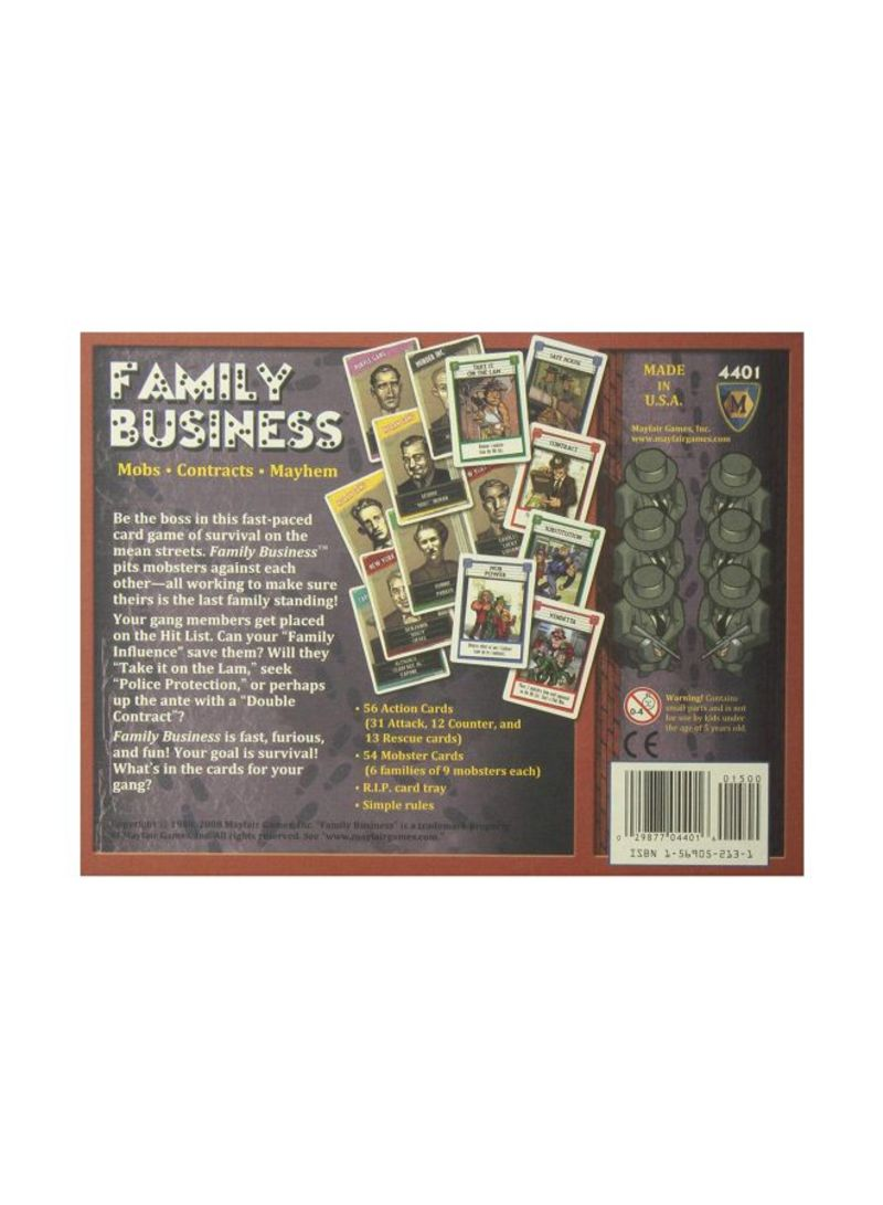 Shop Mayfair Games Family Business Mobs Contracts Mayhem Card Game 4401 Online In Riyadh Jeddah And All Ksa