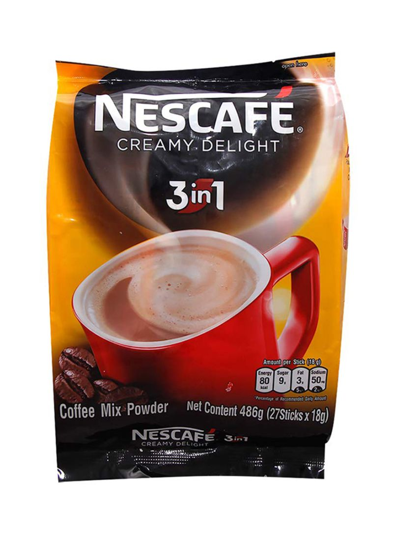 3-in-1 Creamy Coffee Powder Delight, Count 27 18g