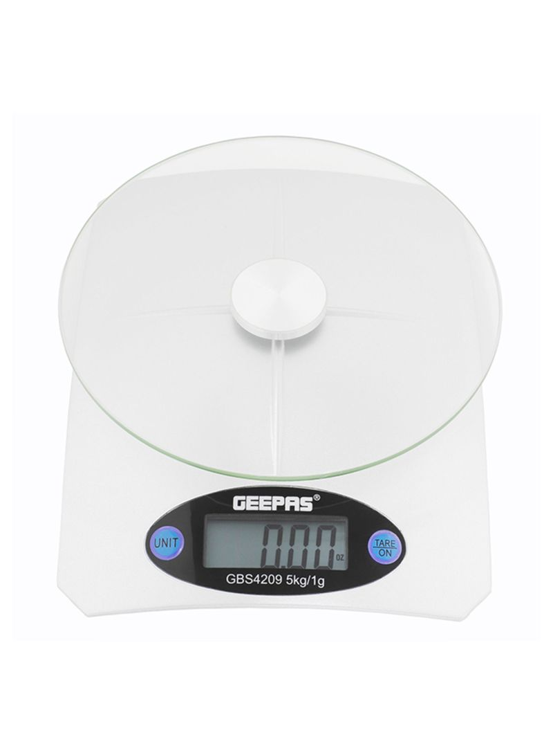 High Accuracy Digital Display Geepas Kitchen Weighing Scales